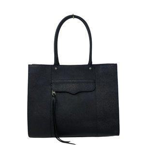 Rebecca Minkoff MAB Saffiano Black Leather Tote